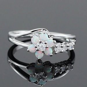 Jewelry - Opal Ring silver 925 over stainless steel